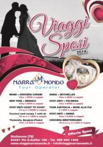 Manifesti pubblicitari Giulianova - Narramondo Viaggi offerta per gli sposi ed i viaggi di nozze