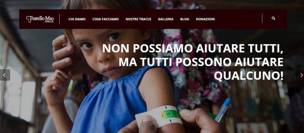 Realizzazione siti web Pescara - Associazione Fratello Mio Onlus