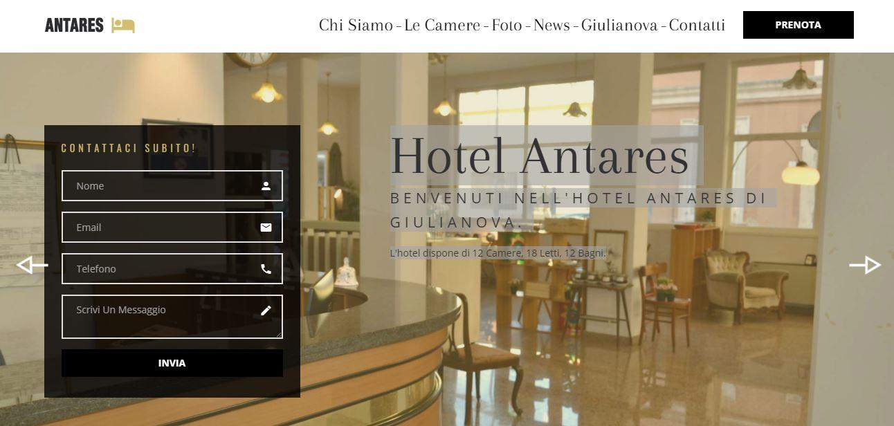 Realizzazione Sito Web Giulianova - Hotel Antares