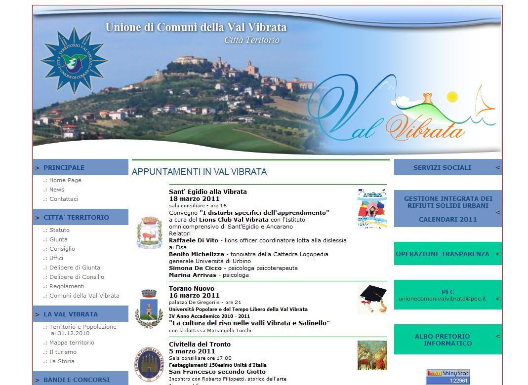 Siti web Nereto - Unione Comuni della Val Vibrata